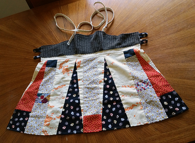 hippie patchwork apron top