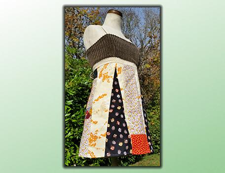 handmade hippie patchwork apron top