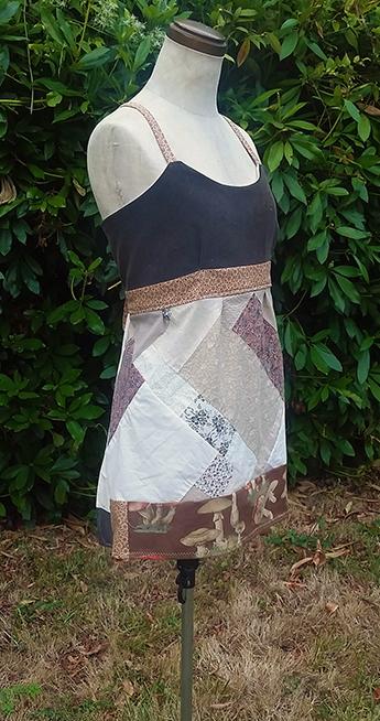 hippie patchwork apron top