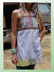 handmade hippie patchwork apron top