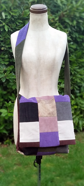 handmade hippie patchwork messenger sling bag