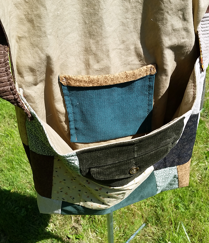 handmade hippie patchwork sling bag
