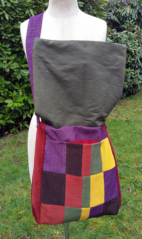 handmade hippie patchwork messenger bag