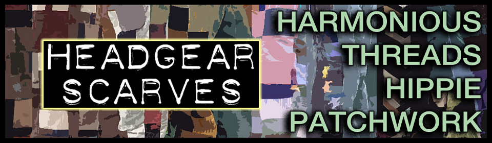 harmonious threads handmade hippie patchwork headgear scarves
