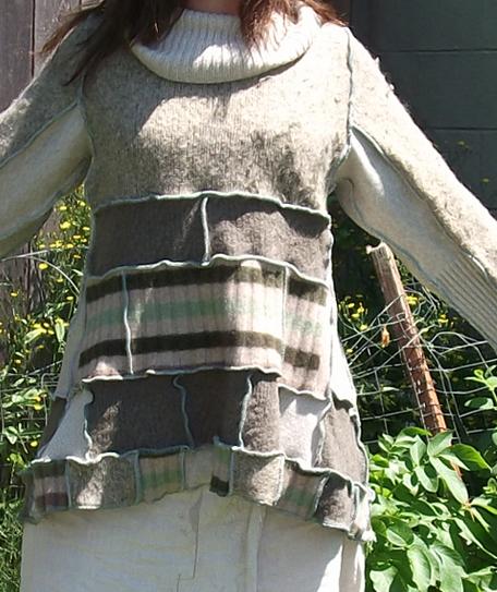 handmade patchwork sweater