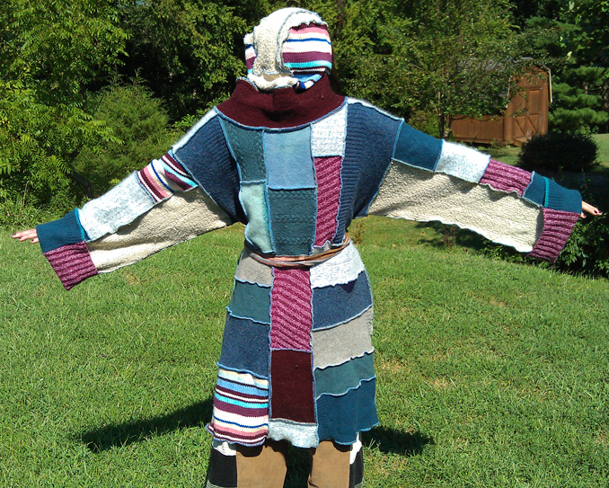 handmade patchwork sweater