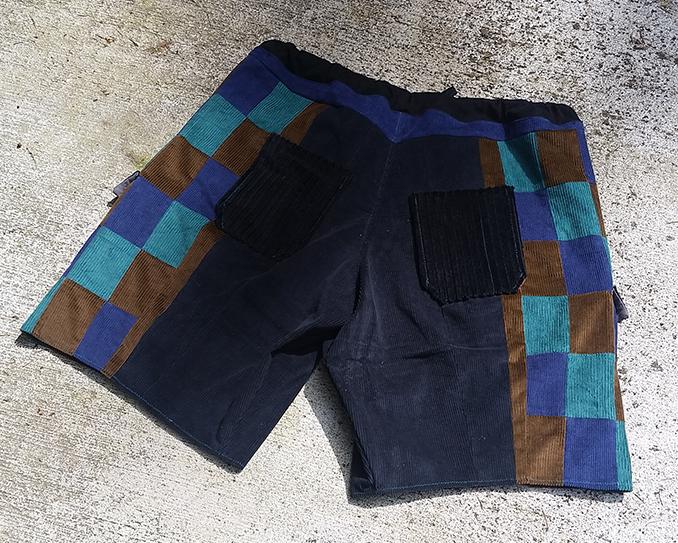 hippie patchwork custom shorts