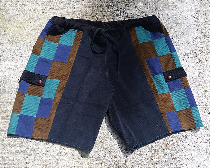 hippie patchwork custom shorts
