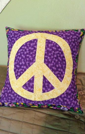 hippie patchwork pillow