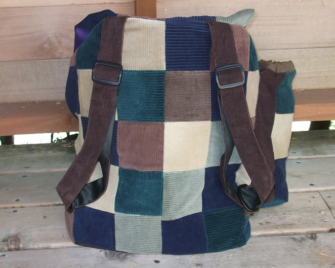 hippie patchwork backpack