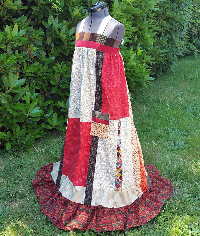 hippie patchwork custom dress