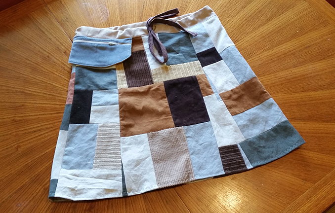 hippie patchwork skirt