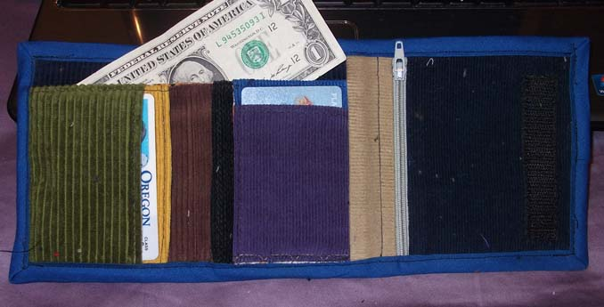hippie patchwork wallet