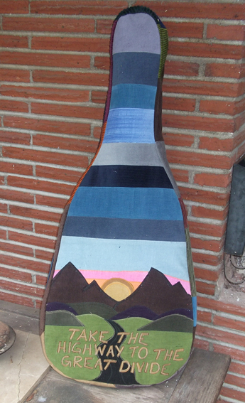 hippie patchwork guitar case