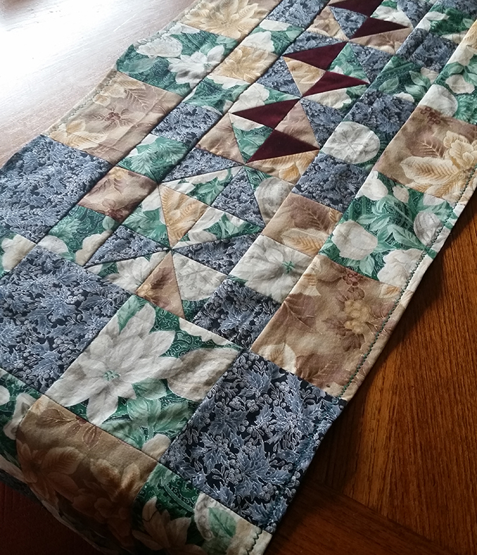 hippie patchwork custom quilted table runner