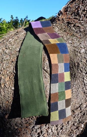 hippie patchwork scarf