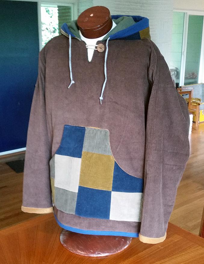 hippie patchwork custom hoodie