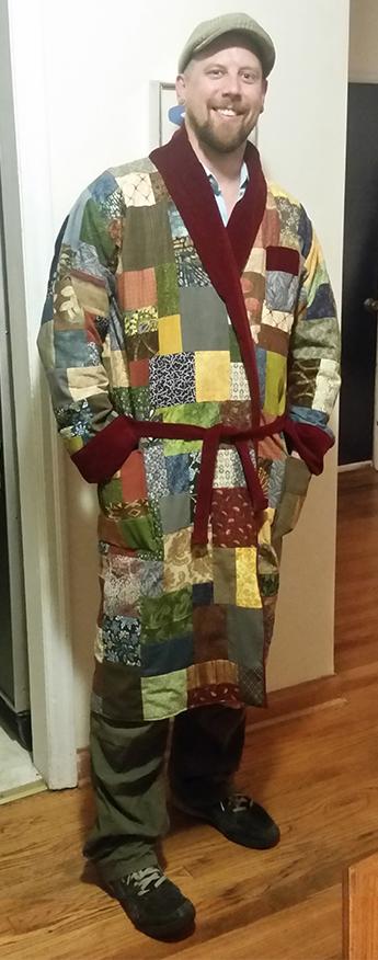 hippie patchwork robe