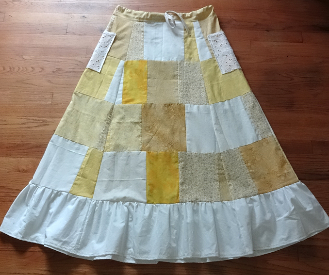 hippie patchwork calico custom skirt