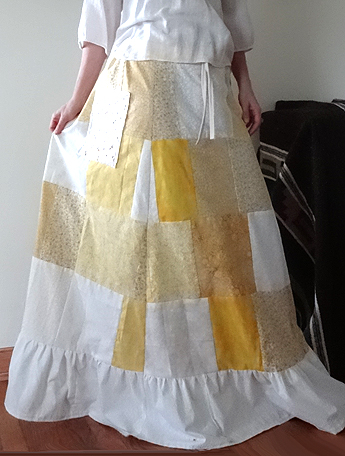 hippie patchwork calico skirt