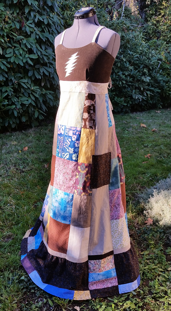 hippie patchwork dress