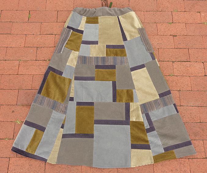 hippie patchwork calico custom skirt