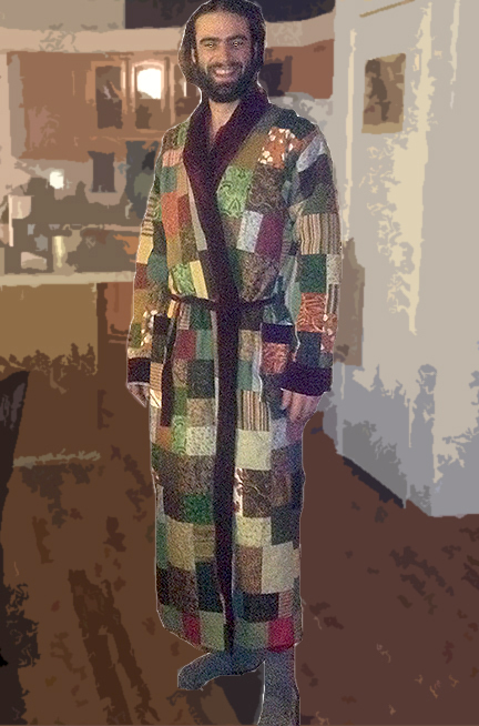 hippie patchwork robe