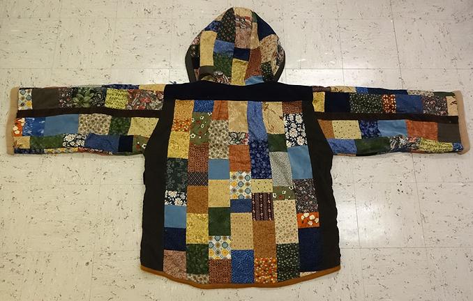 hippie patchwork hoodie
