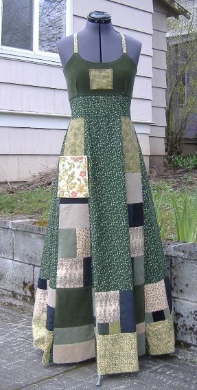 hippie patchwork dress