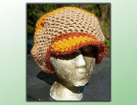 handmade hippie crochet slouch tam hat dreadlock