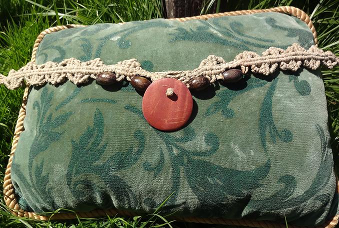 hippie hemp macram� necklace