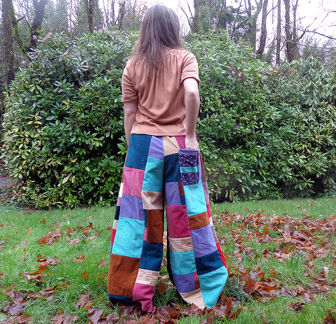 hippie patchwork pants