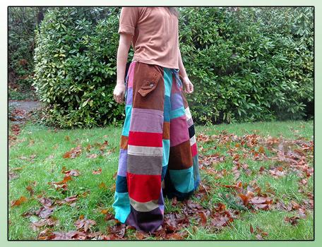 handmade hippie patchwork pants