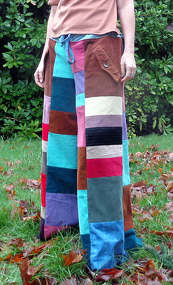 handmade hippie patchwork pants