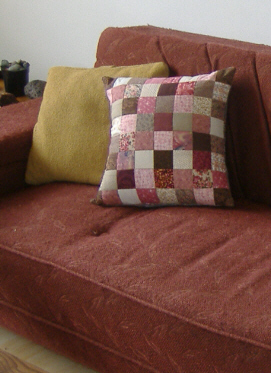 handmade patchwork pillow