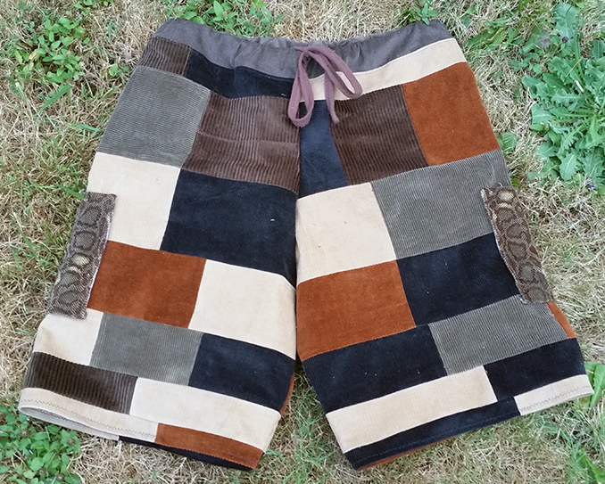 hippie patchwork shorts