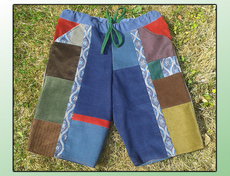 handmade hippie patchwork shorts