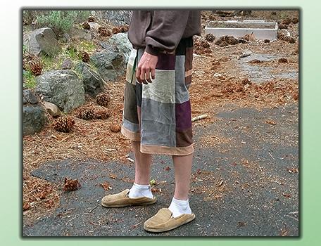 handmade hippie patchwork shorts