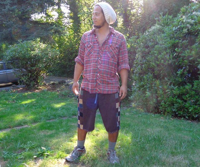 hippie patchwork shorts
