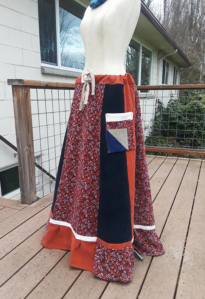hippie patchwork skirt