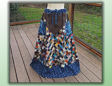 handmade hippie patchwork skirt